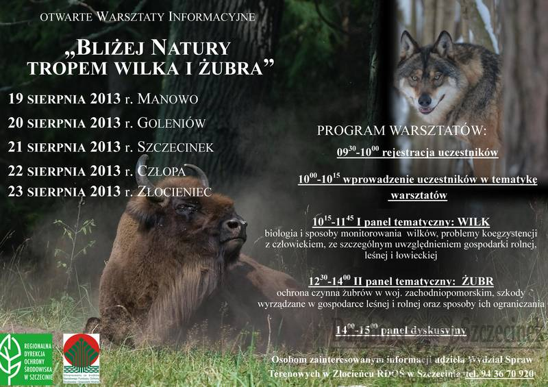 plakat-warsztaty-tropem-wilka-i-zubra