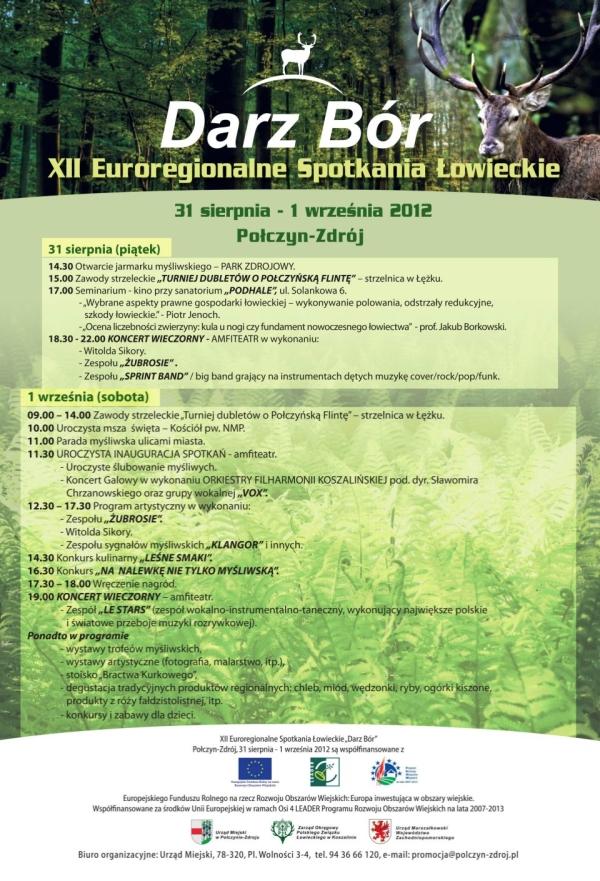XII Euroregionalne spotkania łowieckie Darz Bór 2012